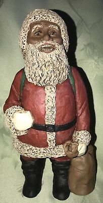 All God's Children ST NICHOLAS Santa Figurine W/Certificate Black Americana #69