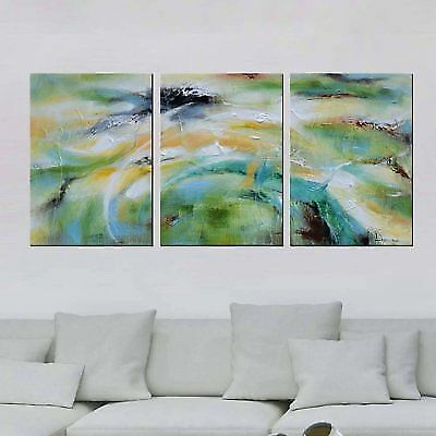 """Artland Modern 100% Hand Painted Framed Wall Art """"Abstract Bright Color Tone"""