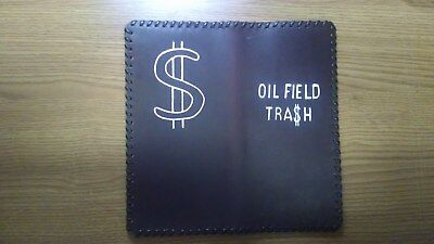 "Oil Field Pipe Leather Tally Book Cover 8.75"" x 4""  ( FFF)"