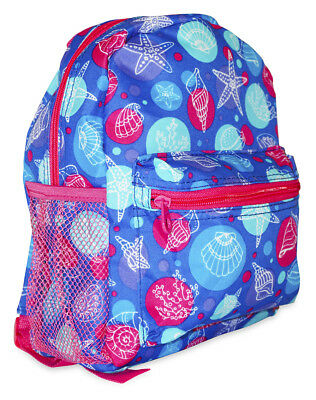 Seashells Ocean Life Girls Mini Toddler Backpack Bag For Preschool