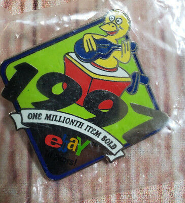 1997 eBay Live One Millionth Item Sold 10 Years Collectible Pin NEW