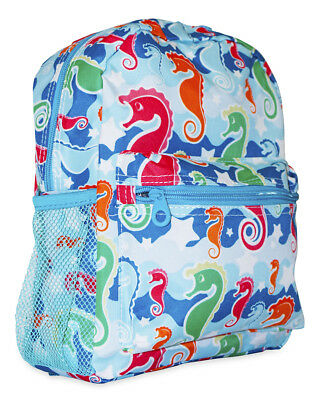 Seahorse Nautical Girls Mini Toddler Backpack Bag For Preschool Ocean Life