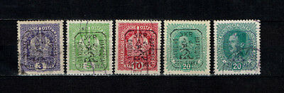 Western Ukraine Lviv issue 1919 set stamps used