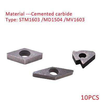 10pcs STM1603//MD1504//MV1603 Carbide Inserts Shims Seat Plate Fit CNC Tool Holder