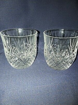 2 Crystal Whisky Tumblers