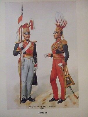 Military Print- 9Th Queen's Royal Lancers 1820 By Richard Simkin