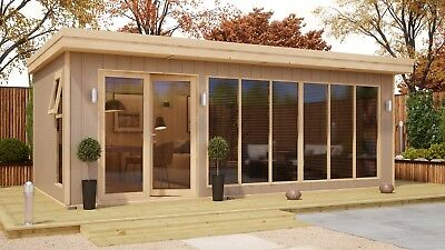 6mx3m Insulated Garden Office Log Cabin Annex Studio Man Cave Summerhouse 20x10