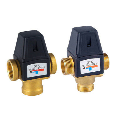 3-Way Water Heater Thermostat Mixing Valve Hot Cold Temperature Control Mixer