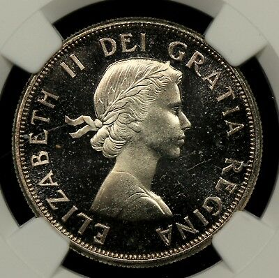 NGC PL66 CAMEO 1959 CANADA SILVER HALF DOLLAR - FIFTY CENTS PROOF LIKE 50c (EN0)