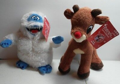 Rudolf The Red Nosed Reindeer & Abominable Snow Monster Misfits Plush Dolls New