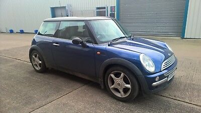 mini cooper 1.6 2001 blue spares or repair