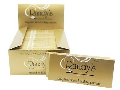 3x Packs Randy's Classic King Size ( 24 Papers Each Pack )  Rolling Papers