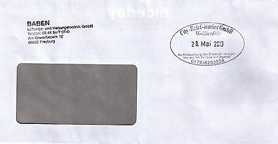 Privatpost mit Stempel City-Brief-Kurier, Weißenfels, 2013