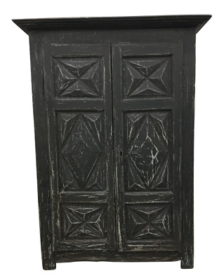 French Antique Painted Two Door Cabinet Armoire - 19th C