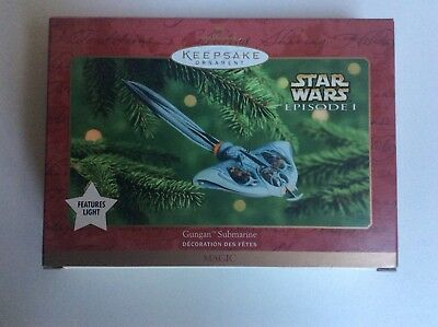Gungan Submarine Star Wars Episode I Hallmark Keepsake Ornament 2000 New In Box