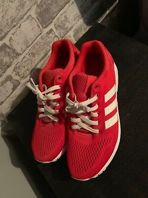 new styles cddb8 a1590 Mens Adidas Originals ZX Flux Trainers Red Textile Size 8