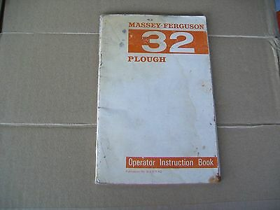 Massey - Ferguson 32 Plough Operators Manual /tractor/farming/cultivator/.land