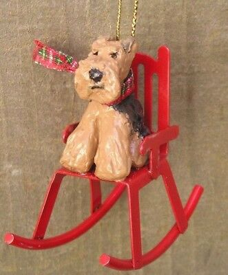 Welsh Terrier on a ROCKING CHAIR Ornament!