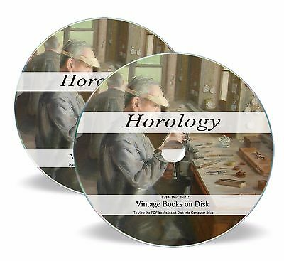 Rare Antique Horology Books On Dvd - Watch History Clock Repair Maker Pocket 284