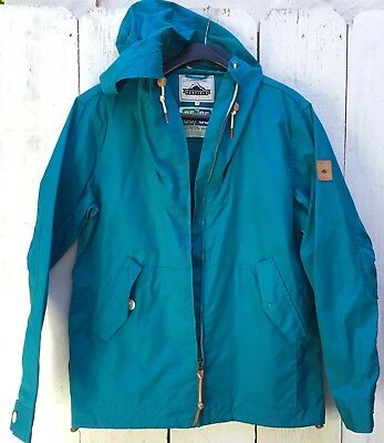 Penfield Mens M Teal Blue Rain Jacket 65/35 Hudson Wax