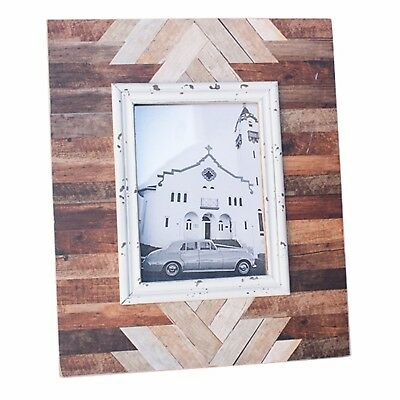 Photo Frame Wooden Vintage Rustic Natural Timber Country Parquetry Francois