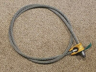 Pair of 2) 8ft Logging Choker Cables Skidding Equipment