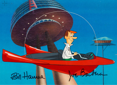 Jetsons: The Movie George Jetson Signed Production Cel (Hanna-Barbera 1990)
