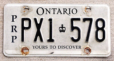 Black &White Ontario Pro-Rate Plate for International Travel [PRP] License Plate