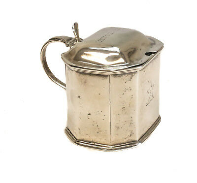 Robert William Dublin Sterling Silver & Glass Lined Mustard Jar, 1832