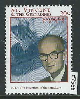 #7568 ST VINCENT MNH, Millennium, Invention of Transistor in 1947 Combine Ship.