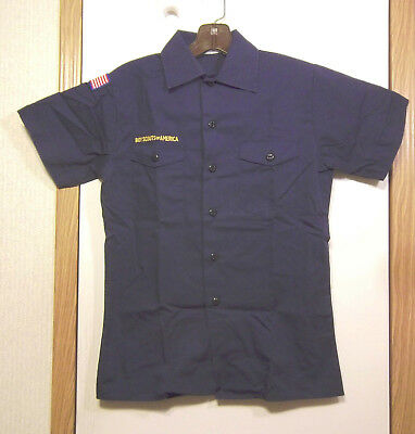 Cub Scout Uniform Blue Shirt Youth Medium Short Sleeves