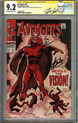 Avengers #57 CGC 9.2 NM- Signed STAN LEE & ROY THOMAS 1st app Silver Age VISION