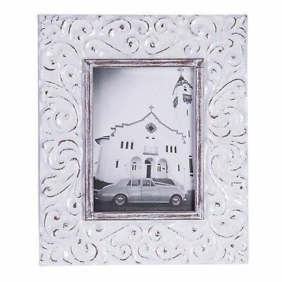 Photo Frame Metal Vintage Rustic Farmhouse White Wash Shabby French Country
