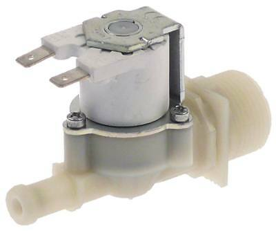 "Solenoid Valve Exit 11mm 1 Compartment Straight Input 3/4 "" Plastic White Dn10"
