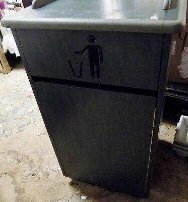 PLYMOLD Commercial Trash Can Restaurant Tray Receptacle Large Garbage Waste Bin
