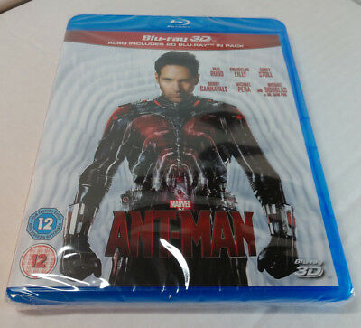 Marvel's Ant-Man (3D+Blu-ray Disc,2015)REGION FREE-Brand NEW-Shipping with Track