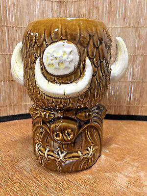 Brand New - Shrunken Head Fred Flinstone Tiki Mug by Big Toe and Tiki Farm