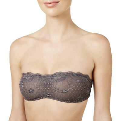 900313510811f Intimately Free People Womens Gray Lace Bralette Bandeau Bra XS BHFO 7777