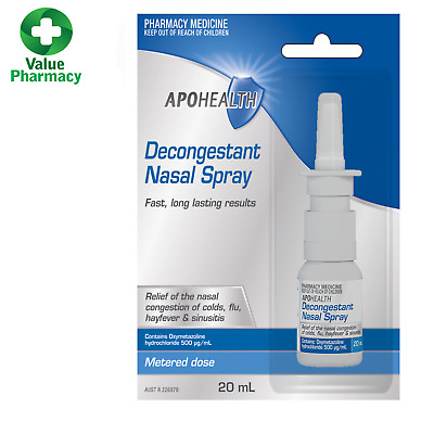 Nasal decongestant same as Sudafed and Dimetapp 20ml Nasal Spray (OXYMETAZOLINE)