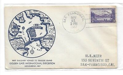 1939-40 Ggie 1937 Cached Cover For The First Discovery Voyage To Ggie- Scarce