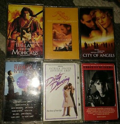 Soundtrack Cassette Lot Last of the Mohicans Sleepless in Seattle City of Angels