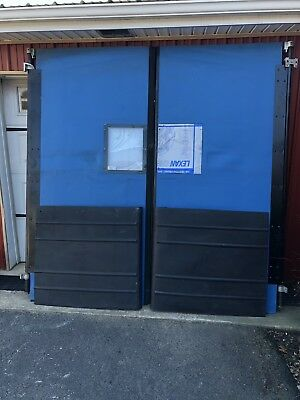 Huge Commercial Double Swing Traffic Doors  Restaurant Warehouse 8' Wide 8' Tall