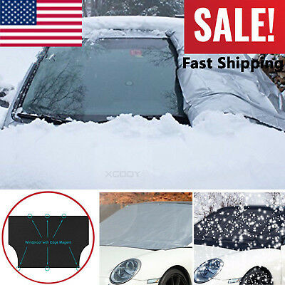 Car Magnet Windshield screen Cover Sun Snow Ice Frost Wind Winter Protector