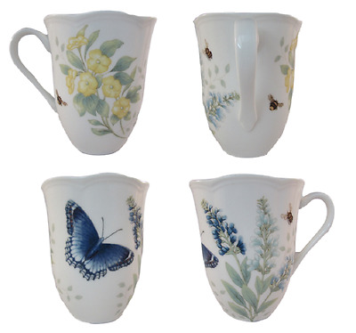 Lenox Butterfly Meadow Red Admiral 12oz. Mug (Set of Four)