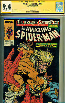 Amazing Spider-Man #324 Cgc 9.4 Ss Signed By Stan Lee-Todd Mcfarlane Art!