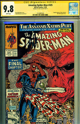 Amazing Spider-Man #325 Cgc 9.8 Ss Signed By Stan Lee-Todd Mcfarlane Art!