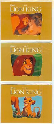 Disney Lion King Phonecards - Set Of 3 - Ntt Japan - Never Used