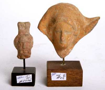 Lot of 2 Greek Terracotta Votive Heads Circa 5th to 4th century BC.