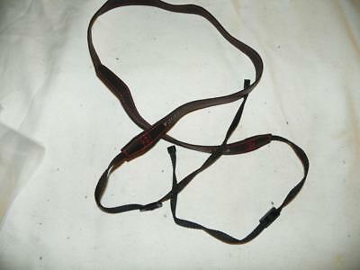 Leica Black Leather Camera Strap With Red Stitching, Mint
