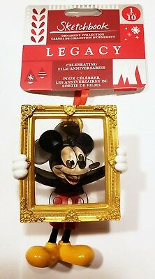 NEW Mickey Mouse 90th Anniversary Christmas Ornament Disney World Sketchbook NWT